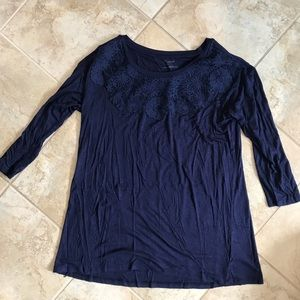 Navy Maternity Top